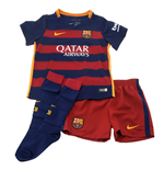 2015-2016 Barcelona Home Nike Little Boys Mini Kit