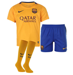 2015-2016 Barcelona Away Nike Little Boys Mini Kit