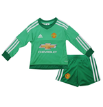 2015-2016 Man Utd Adidas Home Goalkeeper Little Boys Mini Kit