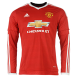 2015-2016 Man Utd Adidas Home Long Sleeve Shirt