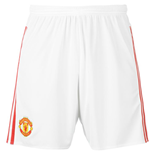 2015-2016 Man Utd Adidas Home Shorts (White)