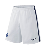 2015-2016 PSG Nike Away Shorts (White)