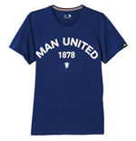 2015-2016 Man Utd Adidas Graphic Tee (Blue)