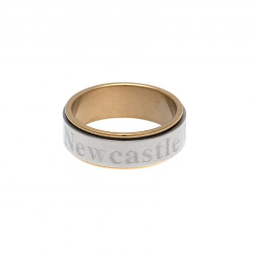 Newcastle United F.C. Bi Colour Spinner Ring Large
