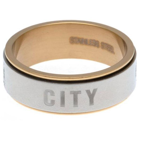 Manchester City F.C. Bi Colour Spinner Ring Large