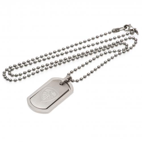 Leeds United F.C. Framed Dog Tag & Chain