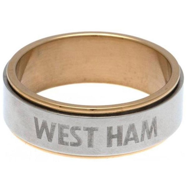 West Ham United F.C. Bi Colour Spinner Ring Medium