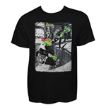 Teenage Mutant Ninja Turtle Men's Black Skateboard Tee Shirt