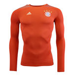 2015-2016 Bayern Munich Adidas Techfit Cool LS (Red)