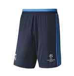 2015-2016 Real Madrid Adidas EU Training Shorts (Indigo)
