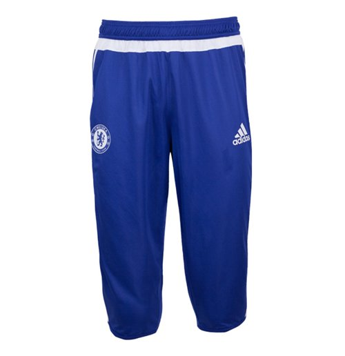2015-2016 Chelsea Adidas Three Quarter Length Pants (Blue)