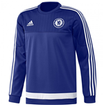 2015-2016 Chelsea Adidas Sweat Top (Blue)