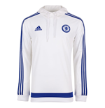 2015-2016 Chelsea Adidas Hooded Sweat Top (White)