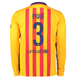 2015-2016 Barcelona Long Sleeve Away Shirt (Pique 3)