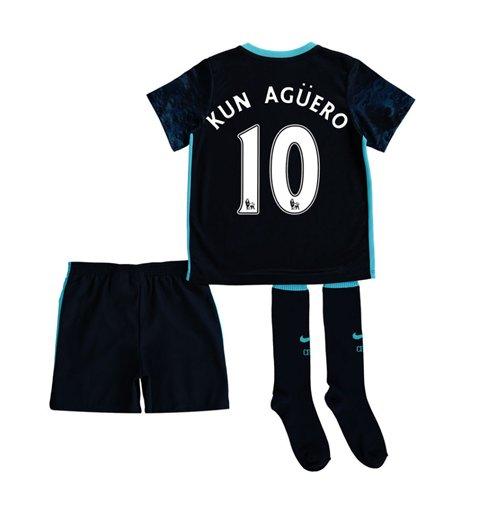 20152016 man city away little boys mini kit kun aguero