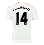 2015-2016 Man Utd Away Shirt (Chicharito 14) - Kids