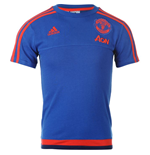 2015-2016 Man Utd Adidas Training Tee (Royal Blue)