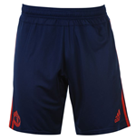 2015-2016 Man Utd Adidas Training Shorts (Dark Blue)