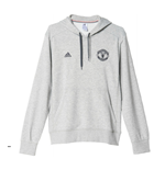 2015-2016 Man Utd Adidas Core BST Hooded Top (Grey)