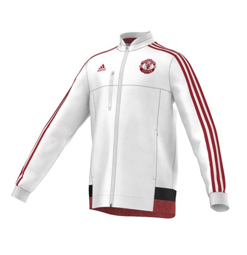2015-2016 Man Utd Adidas Anthem Jacket (White)