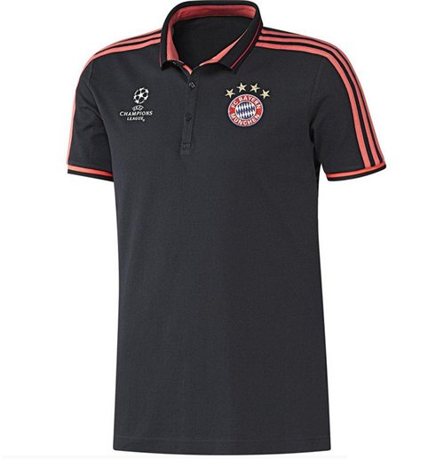 2015-2016 Bayern Munich Adidas UCL Polo Shirt (Navy)