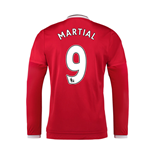 2015-2016 Man Utd Long Sleeve Home Shirt (Martial 9) - Kids