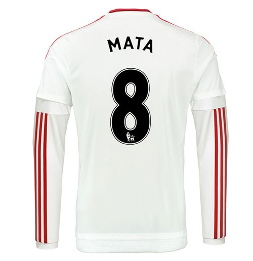 half off 8651e 09af1 2015-2016 Man Utd Long Sleeve Away Shirt (Mata 8)