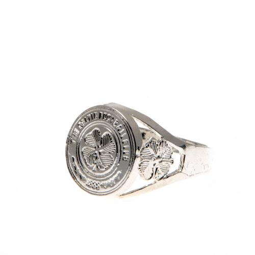 Celtic F.C. Silver Plated Crest Ring Small