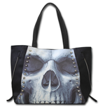 Solemn Skull - Tote Bag - Top quality PU Leather Studded
