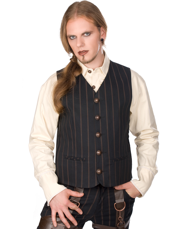 Aderlass Dark Vest Steam Punk Pin Stripe