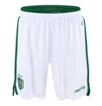 2015-2016 Sporting Lisbon Macron Home Shorts (White)