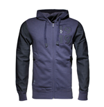 2015-2016 France Adidas Rugby Full Zip Hoody (Midnight Grey)