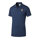 2015-2016 Italy Puma FIGC Azzuri Polo Shirt (Dark Denim)