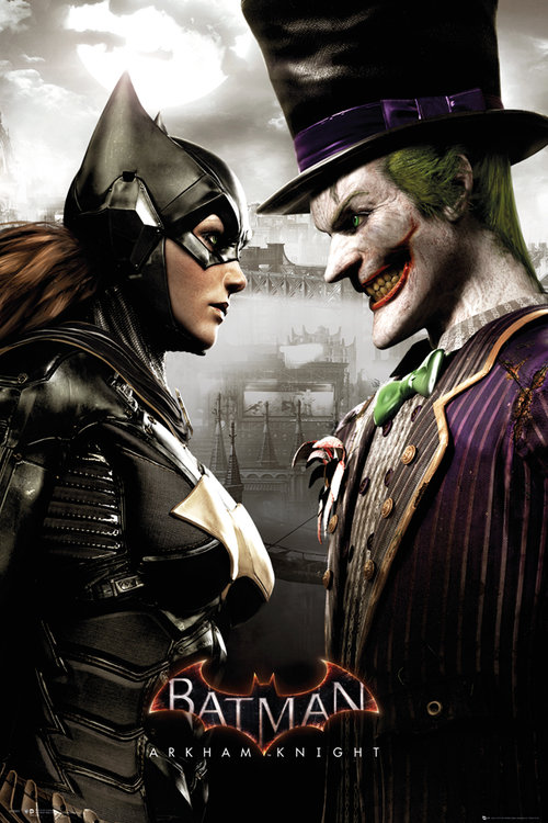 Batman Arkham Knight Batgirl and Joker Maxi Poster
