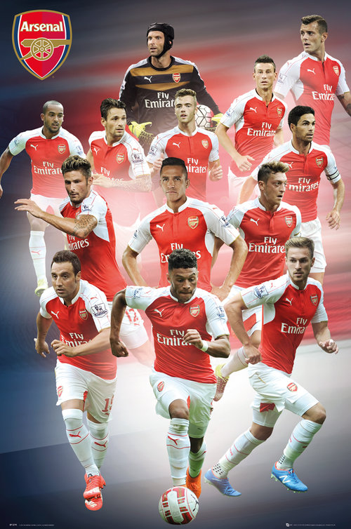 Arsenal Players 15/16 Maxi Poster
