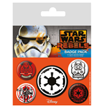 Star Wars Pin Badges 5-Pack Villains