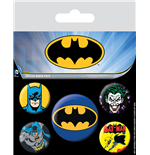 Batman Pin Badges 5-Pack