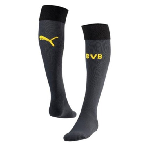 2015-2016 Borussia Dortmund Puma Goalkeeper Socks (Ebony) - Kids