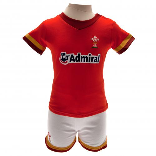 Wales R.U. Shirt & Short Set 6/9 mths GD