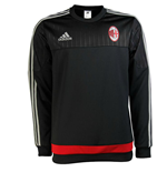 2015-2016 AC Milan Adidas Training Top (Black) - Kids