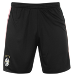 2015-2016 Juventus Adidas Away Shorts (Black)