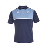 2015-2016 Cardiff Blues Rugby Cotton Training Polo Shirt (Peacot)