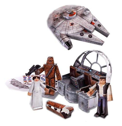 Buy Star Wars Papercraft Figure Set Millennium Falcon