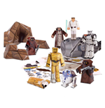 Star Wars Papercraft Figure Set Escape Pod Desert Pack