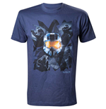 HALO Master Chief Men's T-Shirt, Extra Large, Blue