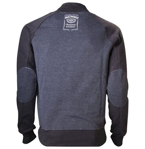 JACK DANIEL'S V-Neckline with Old No.7 Brand Logo Men's Sweater, Medium, Grey/Black