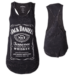 JACK DANIEL'S Classic Old No.7 Brand Logo with Marble Wash Women's Tanktop, Extra Large, Black