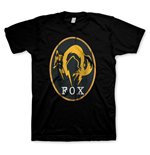 METAL GEAR SOLID V Ground Zeros Men's Fox Logo T-Shirt, Medium, Black