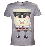 SPONGEBOB Sunglasses Men's T-Shirt, Medium, Grey