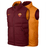 2015-2016 AS Roma Nike Core Padded Vest (Mahogany)
